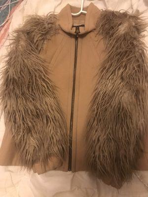 Zara Fur Sleeve Coat worn a few time size L for Sale in Washington, DC