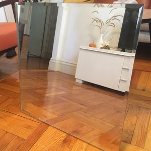 Modern Frameless Squared Mirror for Sale in Boston, MA