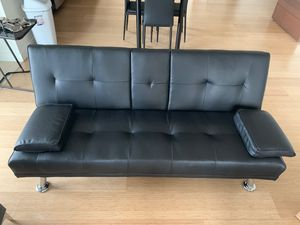 Modern faux convertible leather futon sofa bed for Sale in Boston, MA