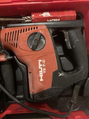 Hammer drill kit hilti te 7-c for Sale in Miami Beach, FL