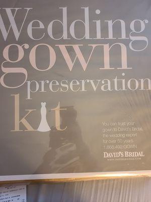 Wedding Gown Preservation Kit for Sale in Deptford Township, NJ