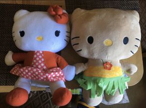 2 hello kitty plushies for Sale in Orange, CA
