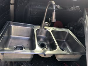 Stainless triple section deep sink for Sale in Brandon, MS