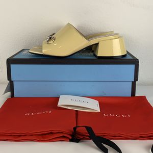 Gucci Horsebit Beige Leather Heels Mules for Sale in Los Angeles, CA