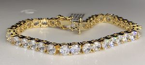 22k stainless steel tennis bracelet created with lab diamonds for Sale in Las Vegas, NV