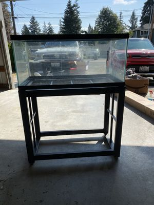 Fish tank with stand for Sale in Mountlake Terrace, WA