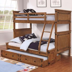 Free full & twin bunk beds ; disassembled but all hardware complete for Sale in Chula Vista, CA