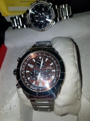 like new top of the line citizen eco drive with the rare brown face for Sale in Sunbury, OH