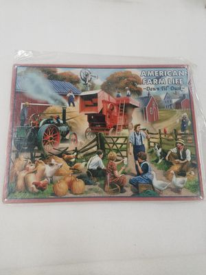 Farm life scene tractor crops steel metal sign for Sale in Vancouver, WA