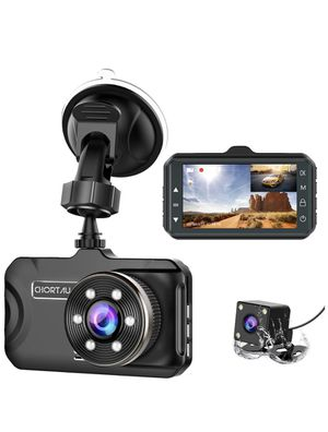 Dash Cam Front and Rear CHORTAU Dual Dash Cam 3 inch Dashboard Camera Full HD 170° Wide Angle Backup Camera with Night Vision WDR G-Sensor Parking Mo for Sale in Brooklyn, NY