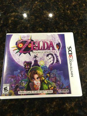 ZELDA Majoras Mask Nintendo 3DS for Sale in San Antonio, TX