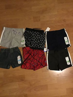 New 6 pieces baby boy shorts size 6 /9 months for Sale in Los Angeles, CA