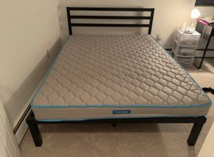 Metal bed frame and mattress (queen size) for Sale in Chelsea, MA