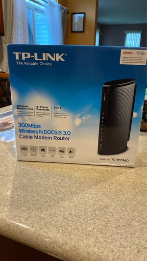 Tp link cable modem router for Sale in Minooka, IL