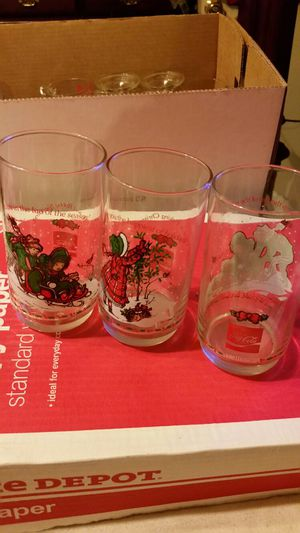 3 collectible coca cola glasses for Sale in Saint Charles, MO