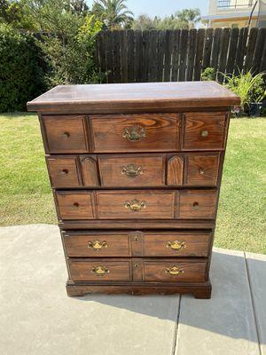 Dresser Tall Dark Brown Dresser for Sale in Clovis, CA