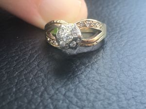 14 k Yellow Gold Size 6.5 Wedding Ring with Diamonds! for Sale in Raleigh, NC