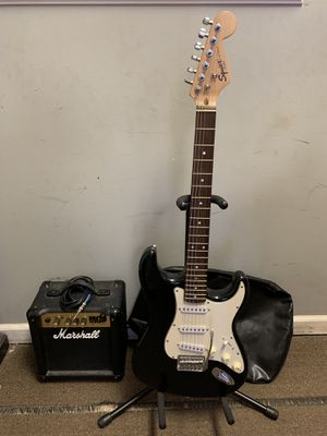 Fender Squire Electric guitar Marshall MG10 Amp for Sale in Watertown, CT