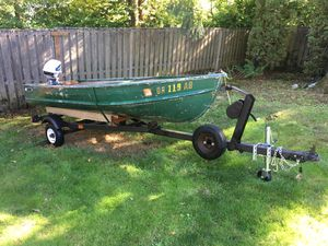 12' Sea King Aluminum Boat! Trailer and Title! for Sale in Rivergrove, OR