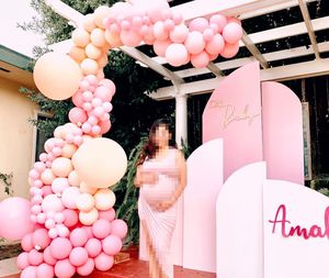 Baby shower balloon garland + backdrop ✨ for Sale in Downey, CA