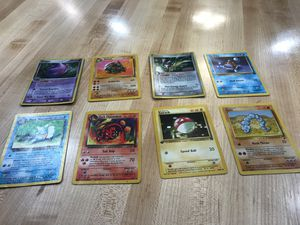 8 Vintage Pokemon Cards, including Team Rocket cards for Sale in Akron, OH