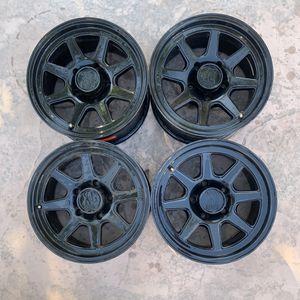 KMC XD301 BLACK 17- 9 5-5.5 RIMS for Sale in Visalia, CA