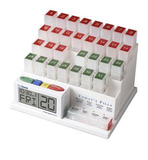 31 day pill dispenser, clock & alarm for Sale in Pompano Beach, FL