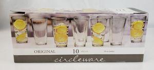 Circleware Original Huge Drinking Glasses Set Of 10 (Clear) for Sale in La Habra Heights, CA