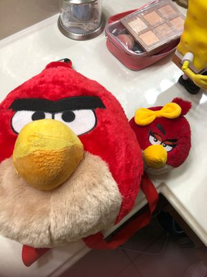 Angry bird backpack and plush doll. for Sale in San Antonio, TX