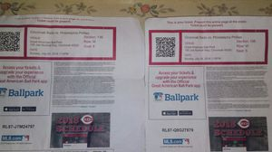 2 Cincinnati Reds ticket that kinda need to go fast considering the game is in 2 days for Sale in Cardington, OH