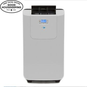 USED ELITE 12,000 BTU DUAL HOSE DIGITAL PORTABLE AIR CONDITIONER WITH DEHUMIDIFIER for Sale in Houston, TX