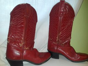 Red leather boots for Sale in Chula Vista, CA