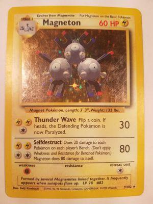 *SHIP ONLY* Moderately Played (MP) Magneton Holofoil #9/102 Original Base Set Pokemon TCG Trading Card WOTC Holographic Hologram Holo Foil for Sale in Phoenix, AZ