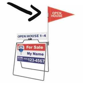 New Open House Pole And Flag For Metal A Frame for Sale in La Puente, CA