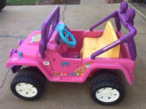 Power Wheels Barbie Jeep Wrangler 12V for Sale in Denver, CO