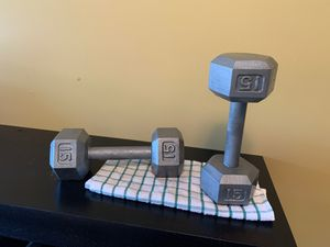 Dumbbell 15 lbs for Sale in Austell, GA