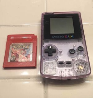 Gameboy color with Pokémon red for Sale in Stockton, CA