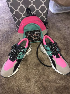 Steven Madden sneakers and matching backpack, worn once, great condition, sz 9 women's, u haul, best offer for Sale in Los Angeles, CA