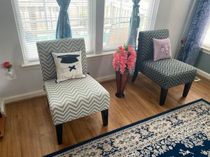 2 chairs with pillows for $150 for Sale in Herndon, VA