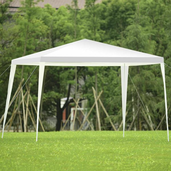 NEW White Canopy Tent Heavy Duty Event Outdoor Patio Table Shade Party Up Swimming Pool EZ bbq Cover Umbrella Sun Awning Deck Gazebo Shed Shelter