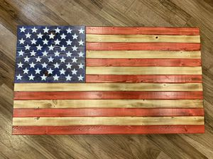 Handmade wooden American flags for Sale in Thornville, OH