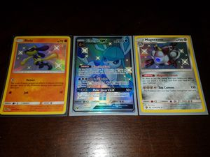 Pokemon cards ,hidden fates shiny's,glaceon gx,riolu,and magnezone for Sale in St. Cloud, FL