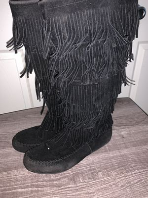 Black Fringe Boots for Sale in Lakeside, CA