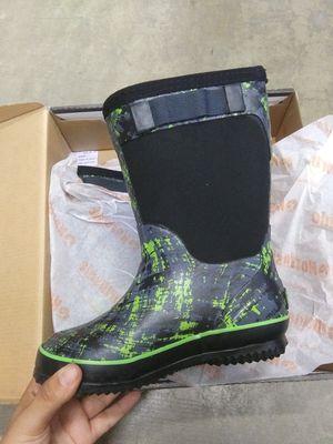 Black/Green Kids (SIZE:12) RAIN BOOTS for Sale in El Monte, CA
