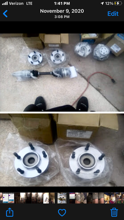 Front and rear hubs for 1996 plymouth voyager/w 15-16 inch rims, cv axle drivers side for 1996 plymouth voyager/3.3L eng for Sale in Phoenix,  AZ
