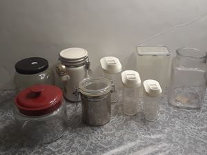 Lot of glass and plastic containers for Sale in Oaklandon, IN