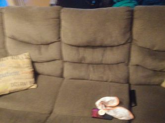 Couch, Charcoal Grey, Recliner for Sale in Aurora,  CO