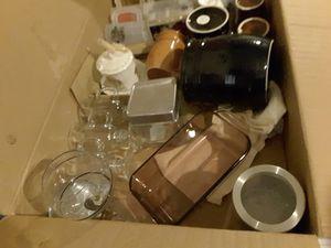 Box of random glassware, Brewfest mugs for Sale in Keizer, OR