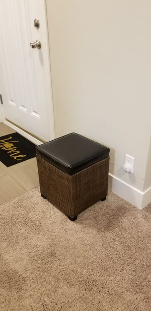 Modular Storage Ottoman/Entryway stool, box, chair with storage for Sale in Maple Valley, WA
