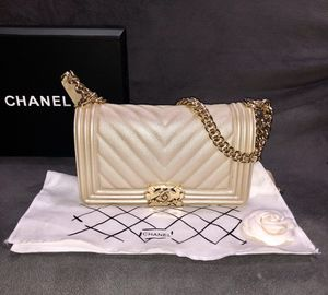 Chanel Le boy golden bag for Sale in New York, NY